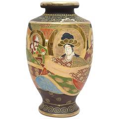 Japanese Satsuma Moriage Vase, circa 1920