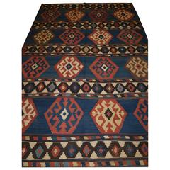 Antique South Caucasian Shirvan Kilim of Outstanding Color and Design