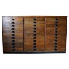 French Oak Apothecary Cabinet, 1950s