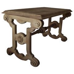 Antique Renaissance Revival Walnut Library or Console Table, English, circa 1850