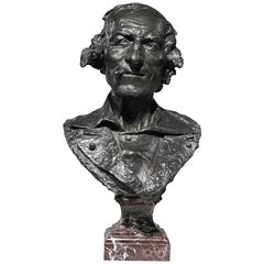 """""""Le Fumeur"""" a Bronze Bust of a Man Smoking a Cigarillo, 1869 by Carpeaux"""