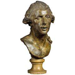 Bust of One of the Montgolfier Brothers, French, Late 18th Century