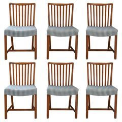Set of Six Dining Chairs Made of Cuban Mahogany