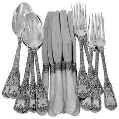 Cardeilhac French Sterling Silver Dinner Flatware Set of 18 Pieces Neoclassical