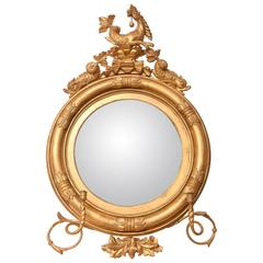Authentic Antique Regency Period Mirror, Carved Wood, Heavily Gilded, circa 1820