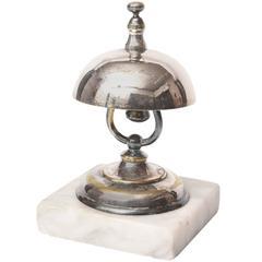 Vintage Dinner or Service Bell, Marble Base