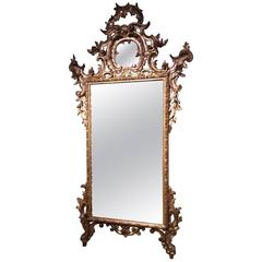 18th Century Venetian Mecca Giltwood Mirror