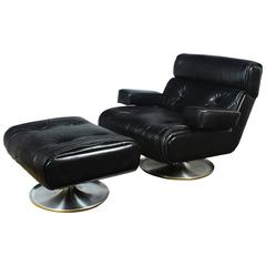 Lounge Chair with Ottoman by Osvaldo Borsani