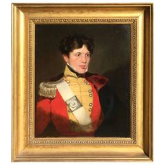 Male Portrait of Gentleman in Military Costume, after Sir Thomas Lawrence, 1820