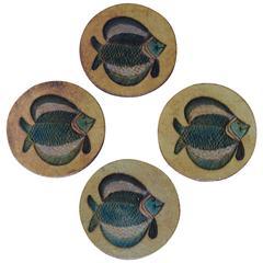 Roger Capron Fish Coasters
