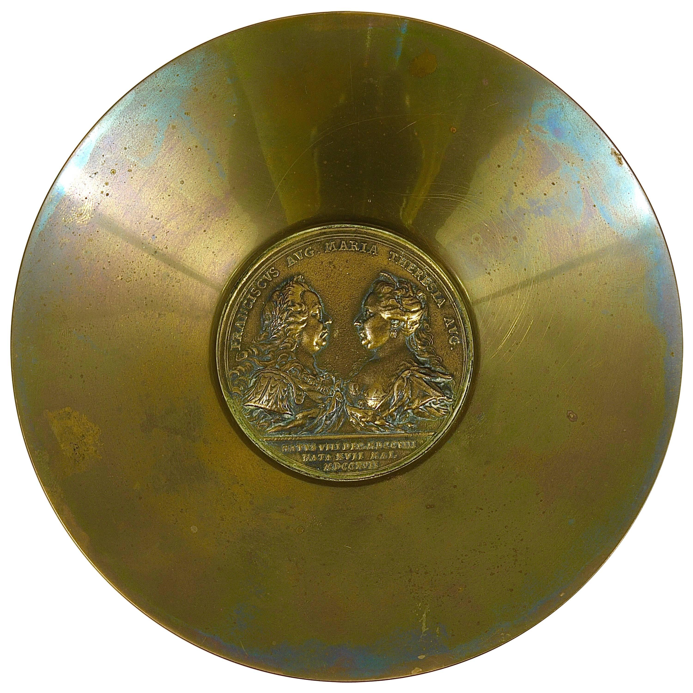 Carl Auböck Maria Theresia Coin Brass Bowl, Austria, 1950s