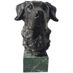 Bronze Sculpture of Labrador Head