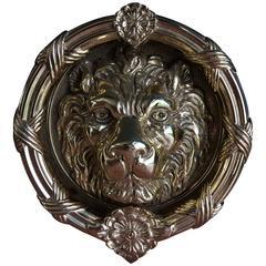 Handsome Lion's Head Bronze Dore Door Knocker