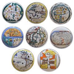 "Vintage Fornasetti ""Antichi Planisferi"" Coasters"