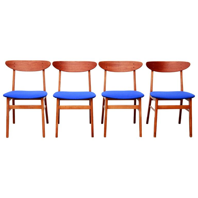 set of four farstrup danish design dining chairs model 210 at 1stdibs
