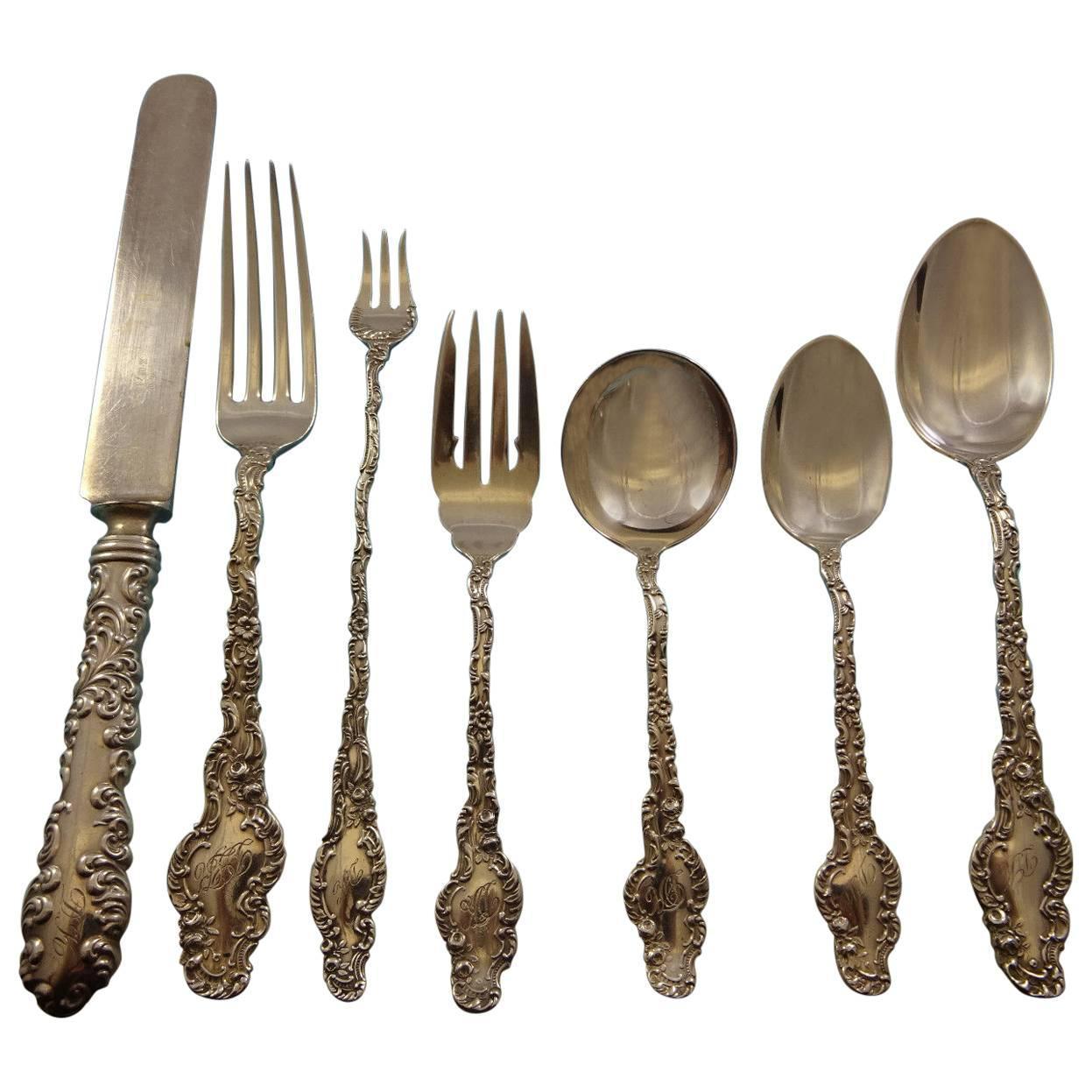 "Bouquet by Durgin Sterling Silver Regular Fork 7 1//4/"" Flatware"