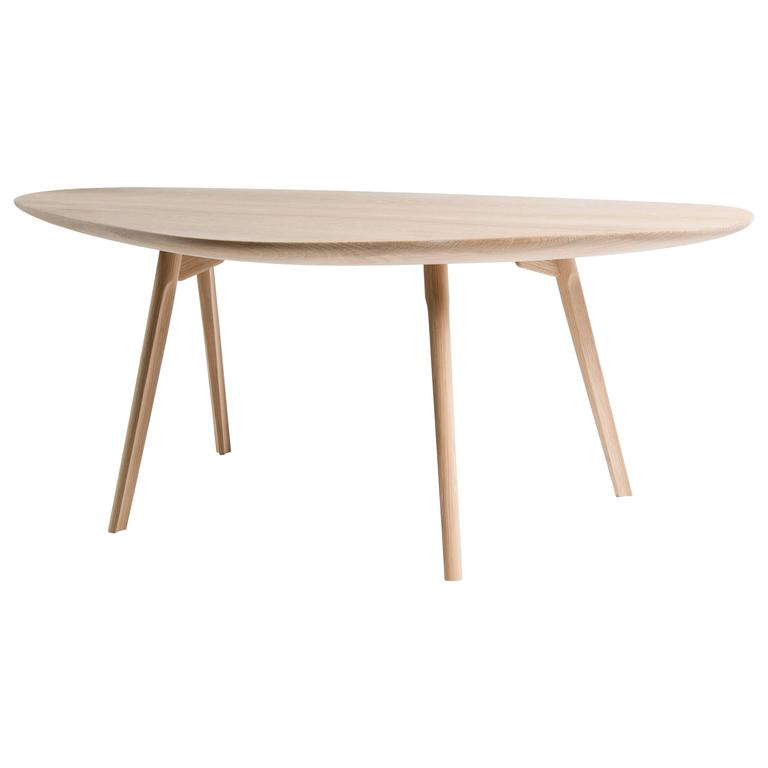 Contemporary Lofbelli Carved Oak Coffee Table with Fine Joinery from CBR Studio