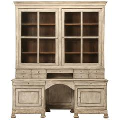 Antique French Walnut Bookcase Or Bibliotheque For Sale At 1stdibs