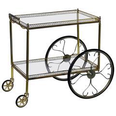 French Modern Design Rolling Bar Cart