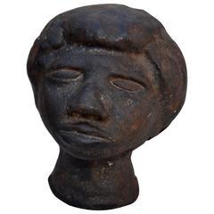 Cast Iron Portrait Bust
