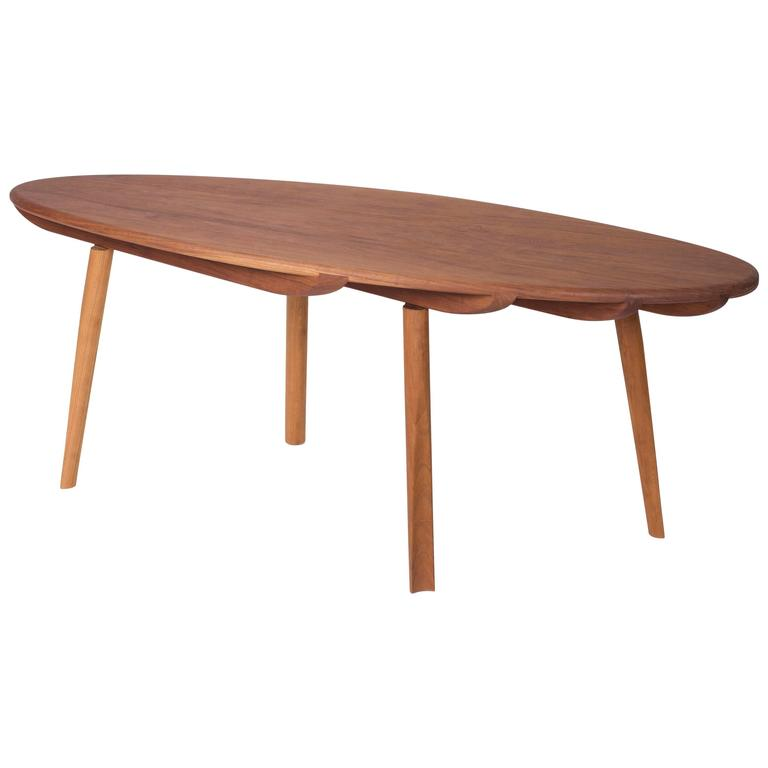 Contemporary Skip Solid Cherry wood Coffee Cocktail Table from CBR Studio