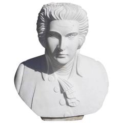 English Marble Bust of Ludwig Van Beethoven, Circa 1880