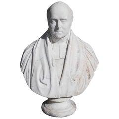 English Marble Bust of Parliament Gentleman , Maker John Graham Lough C. 1855