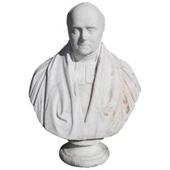 English Marble Bust of Parliament Gentleman , Maker John Graham Lough C. 1855