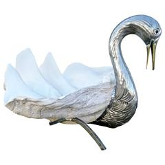 Modernistic Clam Shell Swan