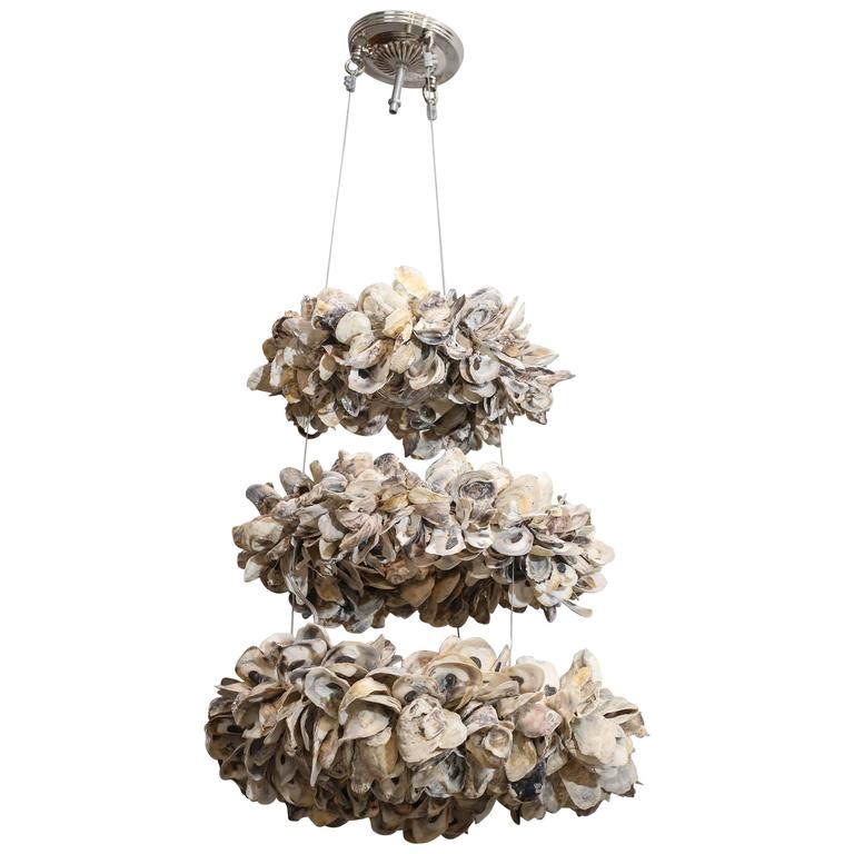 Antica collection new design three tier oyster chandelier with ten antica collection new design three tier oyster chandelier with ten lights for sale mozeypictures Images