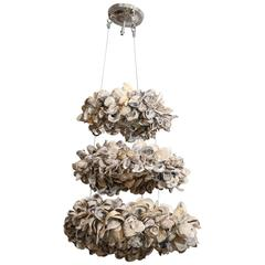 Antica Collection New Design Three-Tier Oyster Chandelier with Ten Lights