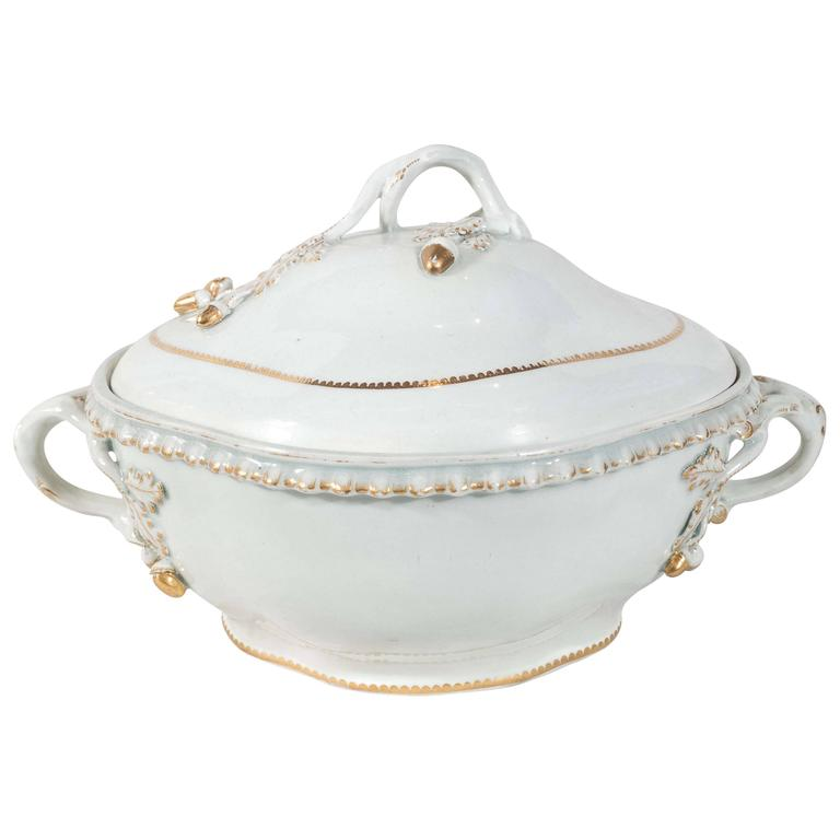 First Period Worcester Porcelain Tureen
