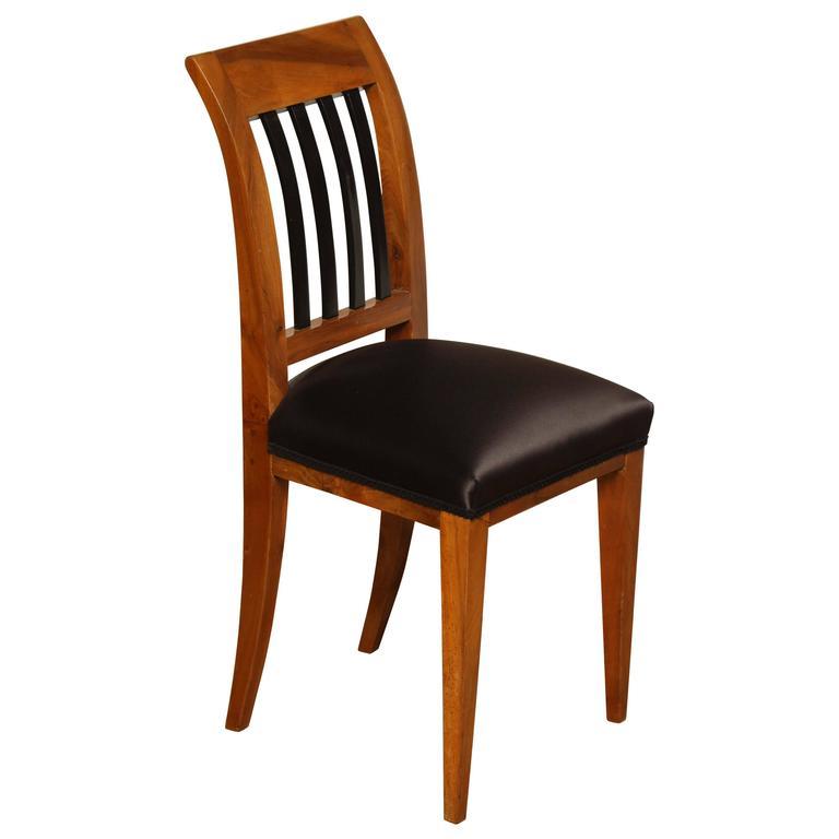 Early 19th Century Austrian, Walnut Side Chair