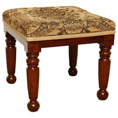 Mid-19th Century English, Mahogany Stool