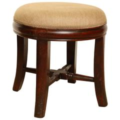 19th Century English, Mahogany Stool