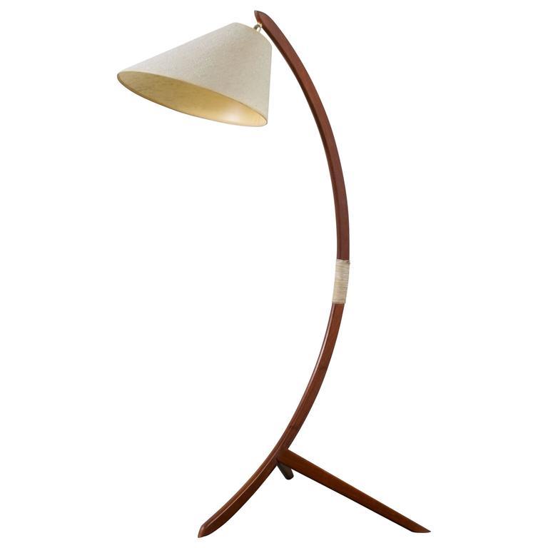 Danish modern teak floor lamp at 1stdibs danish modern teak floor lamp for sale mozeypictures Gallery
