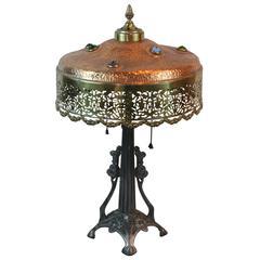Art Deco Jeweled Lamp
