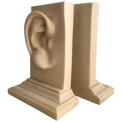Monumental Pair of Ear Bookends
