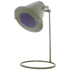 1/4 Rare 1970s Military Landing Zone Lamp from East Germany