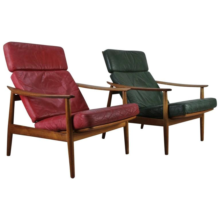 Matching Pair of Lounge Easy Chair by Arne Vodder 1