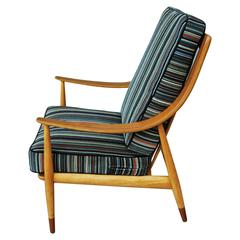 Peter Hvidt Tall Back Easy Chair, 1960s