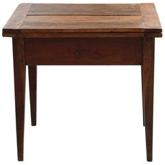 Late 19th Century Card Table with Folding Top and Turnable Mechanism