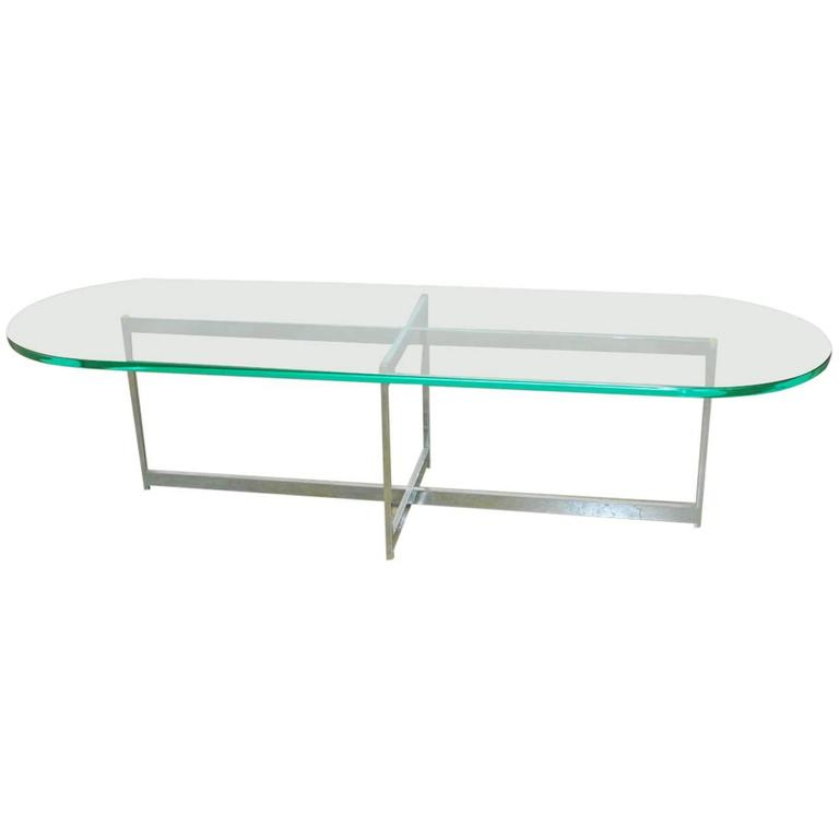 Mid Century Surfboard Coffee Table At 1stdibs: Mid-Century Chrome And Glass Surfboard Cocktail Table For