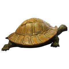 Monumental Majolica Sea Turtle