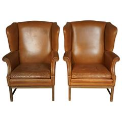 Pair of English Wingback Chairs