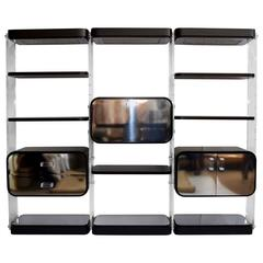 Pace Wall Unit in Lucite and Laminate