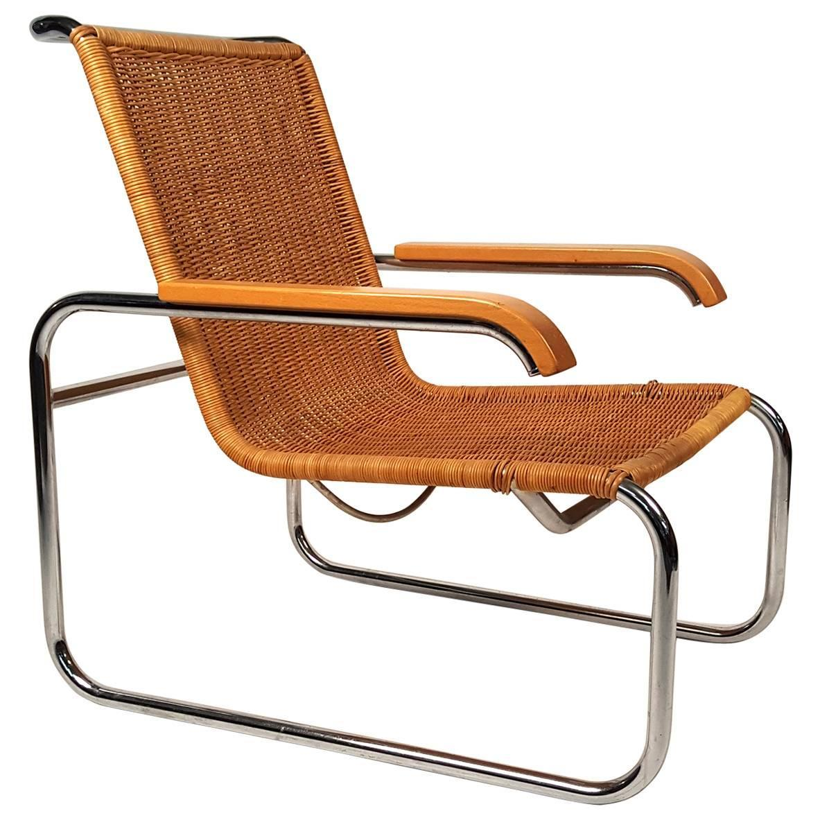 marcel breuer b 35 lounge chair for sale at 1stdibs. Black Bedroom Furniture Sets. Home Design Ideas