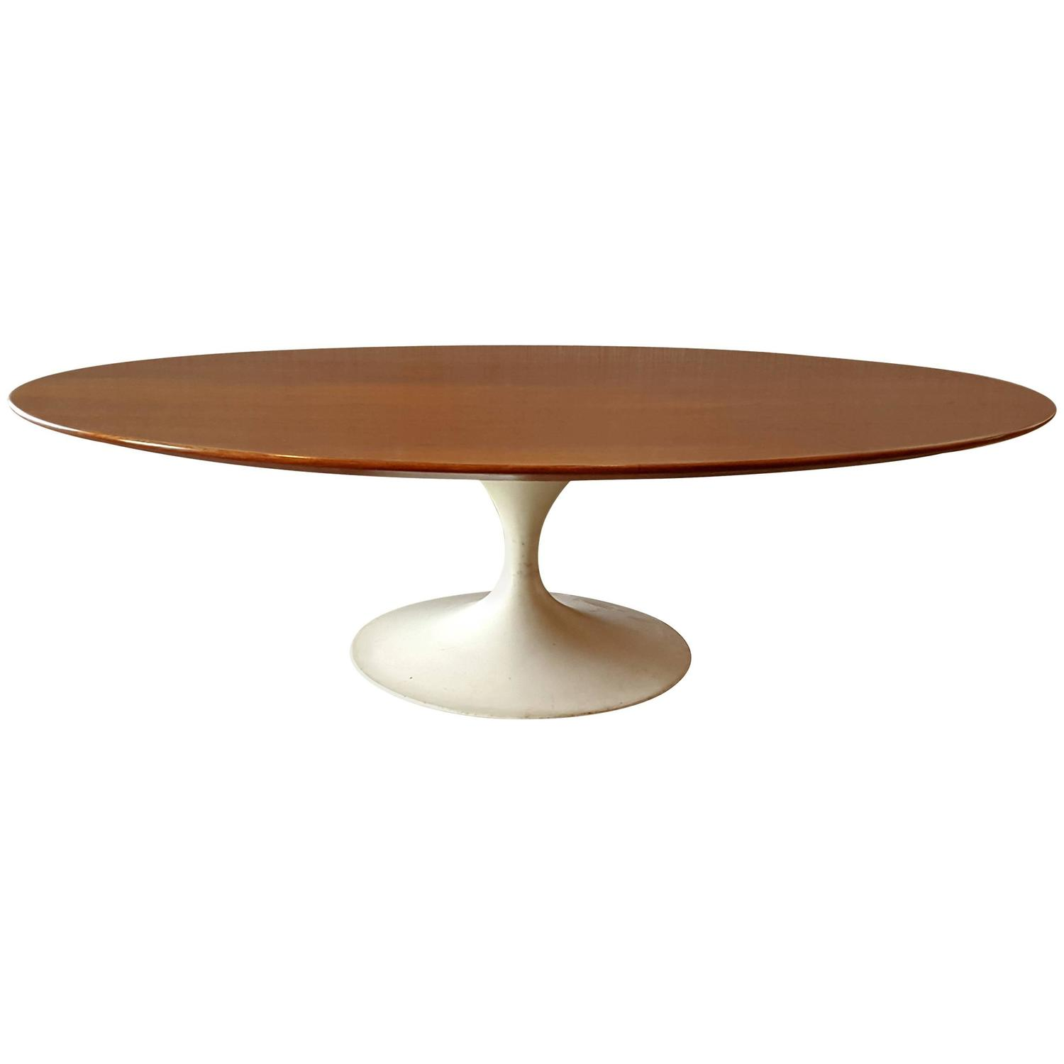 Early Oval Eero Saarinen Coffee Table For Knoll For Sale At 1stdibs
