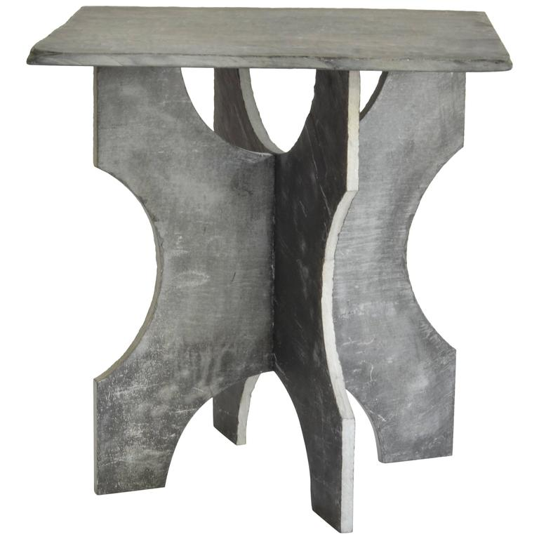 Slate Garden Table From France At 1stdibs