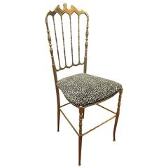 Chiavari Polished Brass Chair